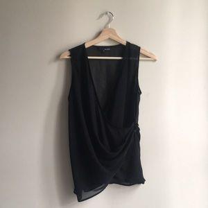 Silk chiffon asymmetrical blouse!